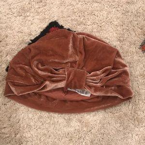 H&M Dusty Rose Stretch Velour Turban, 2-3Y